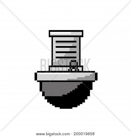 contour letter card message in the platform game vector illustration