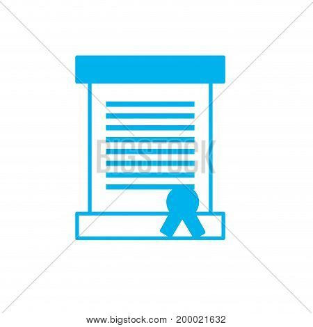 silhouette letter card message with important text vector illustration