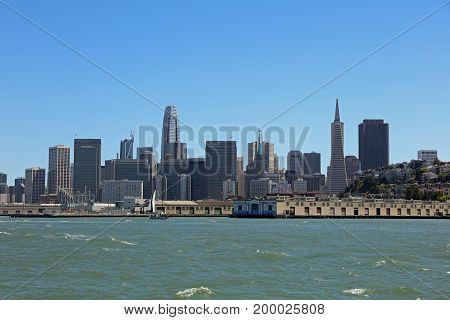 Skyline of San Francisco in California. USA