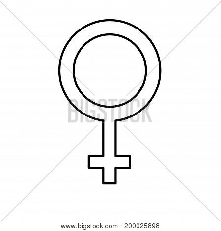 line femele gender symbol to special event vector illustration