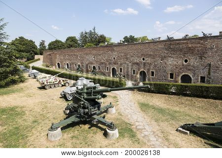 Museum Of Armaments In The Open Air In The Belgrade Fortress, Serbia.