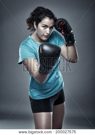 Hispanic Woman Boxer