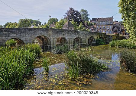 The Old Town Bridge over the river Avon in Bradford on Avon, UK