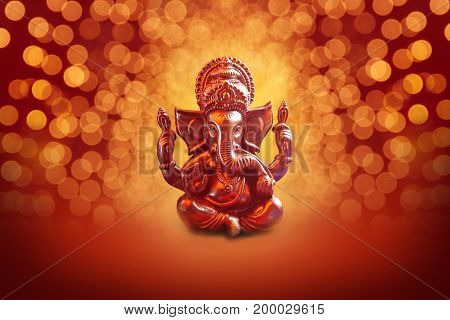 Lord Ganesha with Blured bokhe background ,