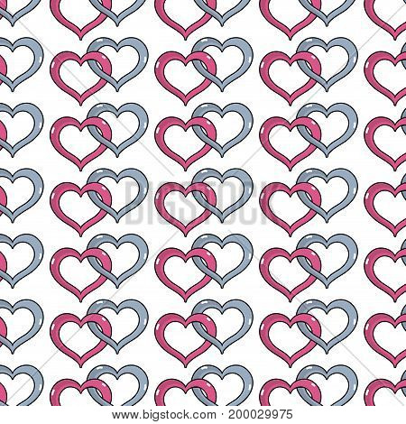 nice heart symbol to love and passion background vector illustration