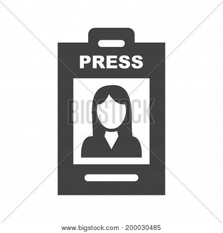 Female, card, employee icon vector image. Can also be used for news and media. Suitable for mobile apps, web apps and print media.