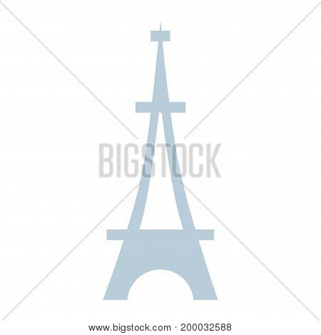 beauty eiffel tower architecture construction vector illustration