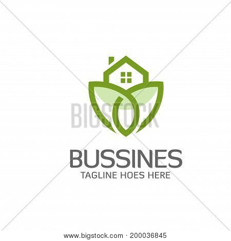Green House Logo. Eco House. Green House Vector