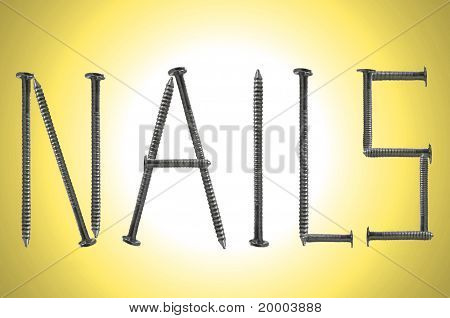Yellow Nails Background
