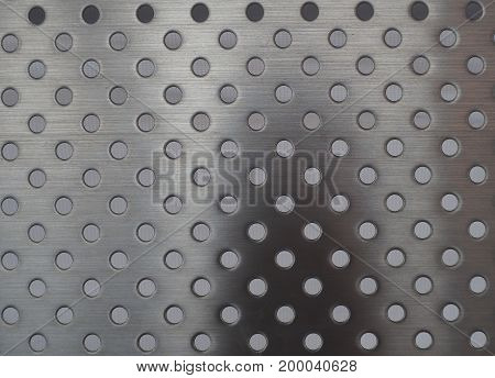 The pattern of Silver stainless circle background.