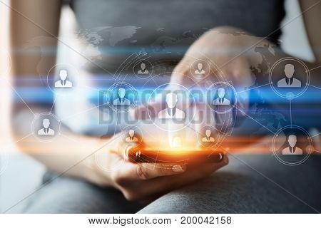 Global Worldwide Communication Businesss Network Technology Internet concept.