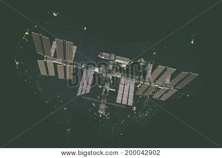 International Space Station Over Australia