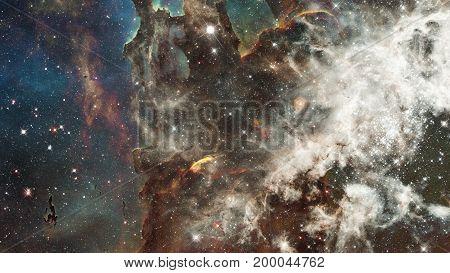 Universe Filled With Stars, Nebula And Galaxy.