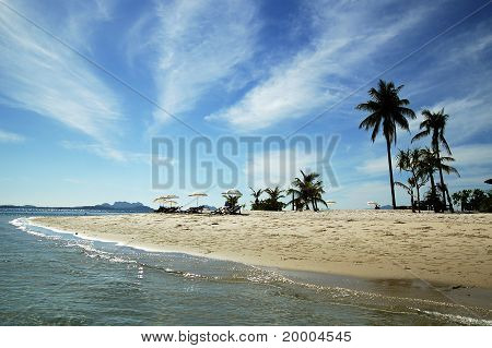 Sand beach landscape