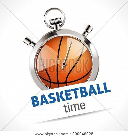 Stopwatch - Sport Basketball - stock illustration