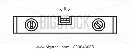 Bubble level line icon on white background. Vector illustration.