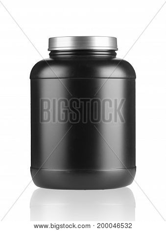 Whey Protein Container On White Background