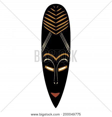 Vector illustration african mask. Tribal mask icon. Totem mask
