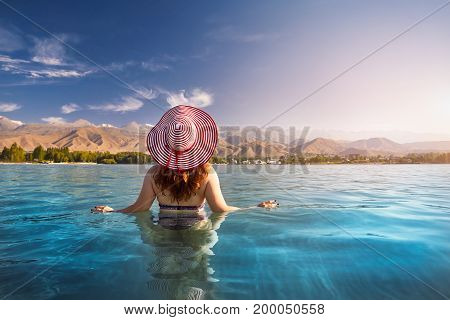 Woman At Issyk Kul Lake