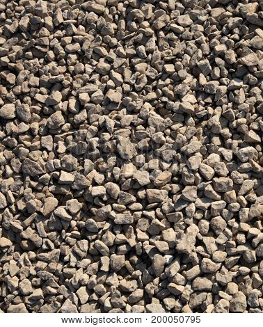 image of gravel at dry sunny day