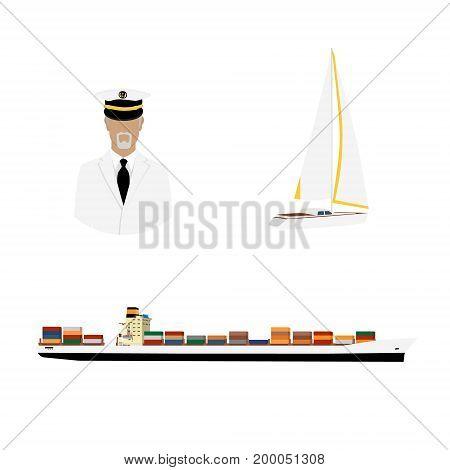 Captain, Cargo Ship And Yacht