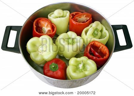 Sweet Peppers In A Pan