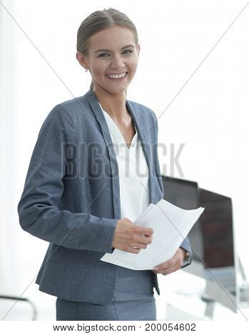 successful business women with documents