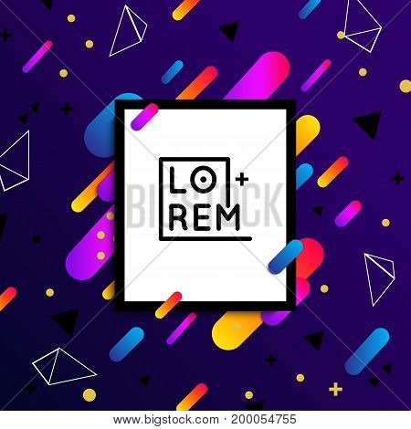 Material dynamic design poster. Vector template. - stock vector.
