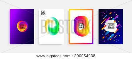 Chaotic geometry background. Minimal futuristic design. Fluid colors, memphis stile, vibrant shapes. Suitable for posters, covers, prints. stock vector.
