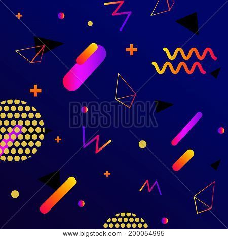 Chaotic geometry background. Minimal futuristic design. Suitable for posters, covers, prints. stock vector.