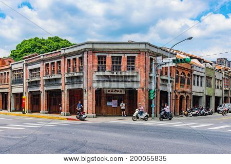 TAIPEI TAIWAN - JUNE 26: This is Bopiliao historical block. It is a famous area which features traditional Chinese architecture as it was in the 18th century on June 26 2017 in Taipei