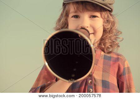 Kid Shouting Through Megaphone