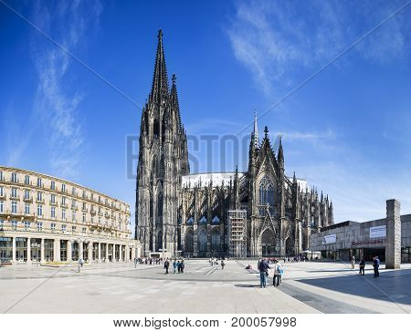 Cologne Cathedral Panorama, Germany, Editorial