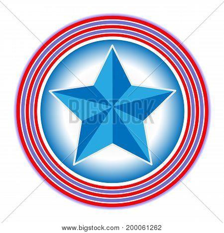 Star icon symbol sign badge American flag