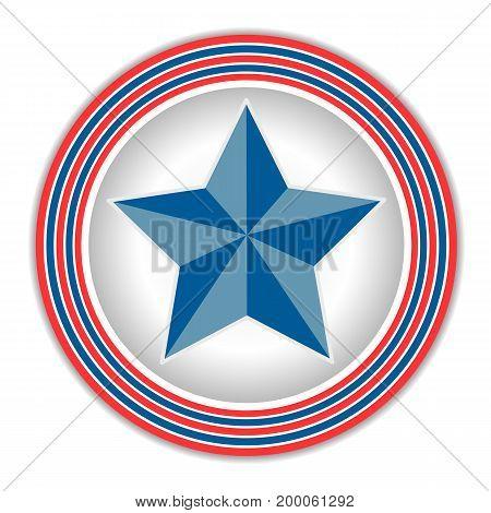 Star icon symbol style American flag retro