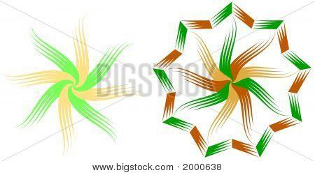 Woodcut Star Twirls
