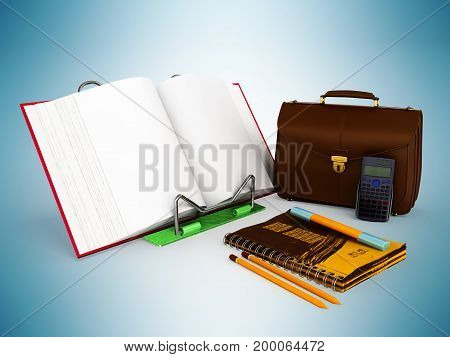 Concept Of School And Education Economy 3D Render On Blue Background