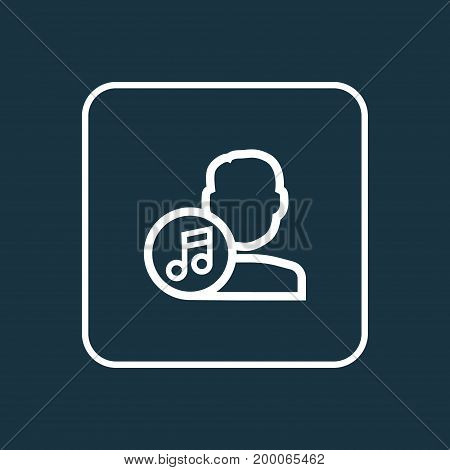Premium Quality Isolated Composer Element In Trendy Style.  Artist Outline Symbol.