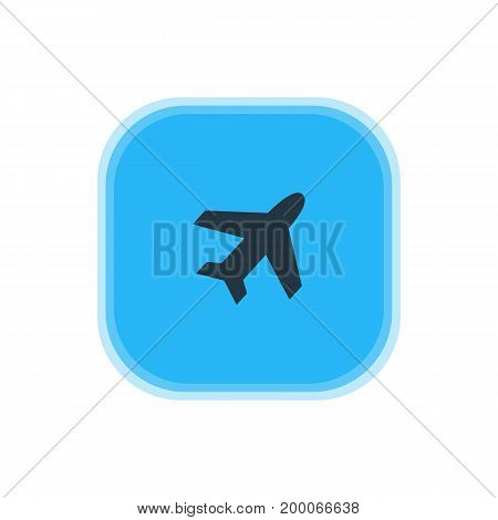 Beautiful Check-In Element Also Can Be Used As Aircraft Element.  Vector Illustration Of Airplane Icon.