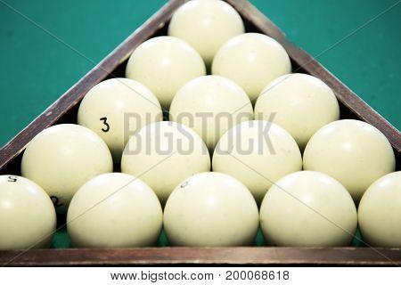 Billiard balls in a triangle. Activity game