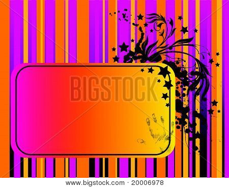 Abstract background with blots and plant fragments vector