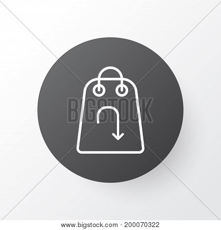 Premium Quality Isolated Refund Element In Trendy Style.  Return Item Icon Symbol.