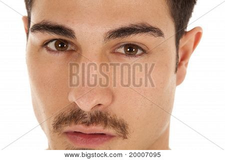 Man Close Face Serious