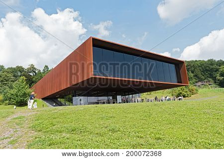GLAUBERG,GERMANY-AUGUST 16, 2017: Museum and Archaeological Park Glauberg, Hesse, Germany