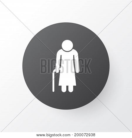 Premium Quality Isolated Old Woman Element In Trendy Style.  Grandma Icon Symbol.
