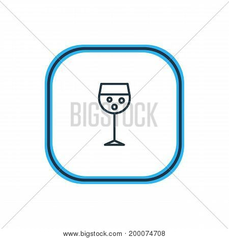 Beautiful Drinks Element Also Can Be Used As Champagne Element.  Vector Illustration Of Alcohol Outline.