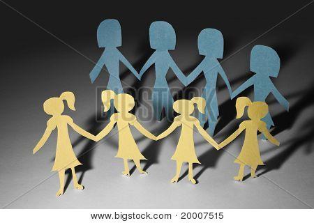Paper Chain Girls And Mama