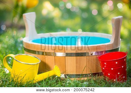 Wooden Vat Outdoors