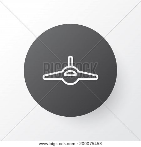 Premium Quality Isolated Plane  Element In Trendy Style.  Combat Aircraft Icon Symbol.