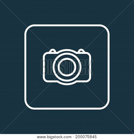 Premium Quality Isolated Video  Element In Trendy Style.  Photo Camera Outline Symbol.